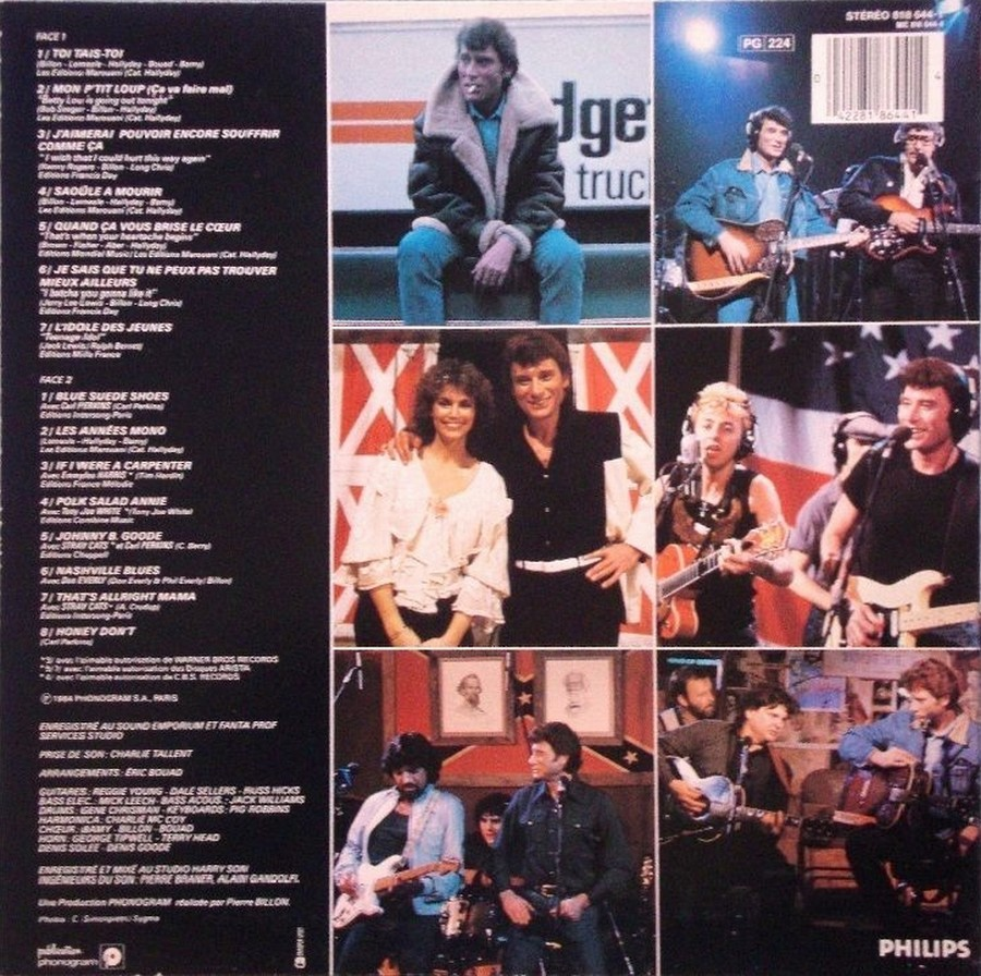 HALLYDAY 84 'NAHSVILLE'  ( 33 TOURS 30CM )( TOUTES LES EDITIONS )( 1984 - 2021 ) 1984_460