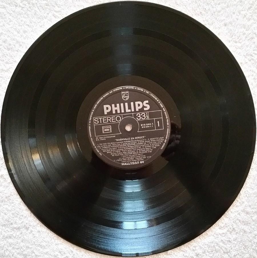 HALLYDAY 84 'NAHSVILLE'  ( 33 TOURS 30CM )( TOUTES LES EDITIONS )( 1984 - 2021 ) 1984_463