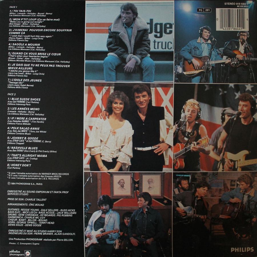 HALLYDAY 84 'NAHSVILLE'  ( 33 TOURS 30CM )( TOUTES LES EDITIONS )( 1984 - 2021 ) 1984_468