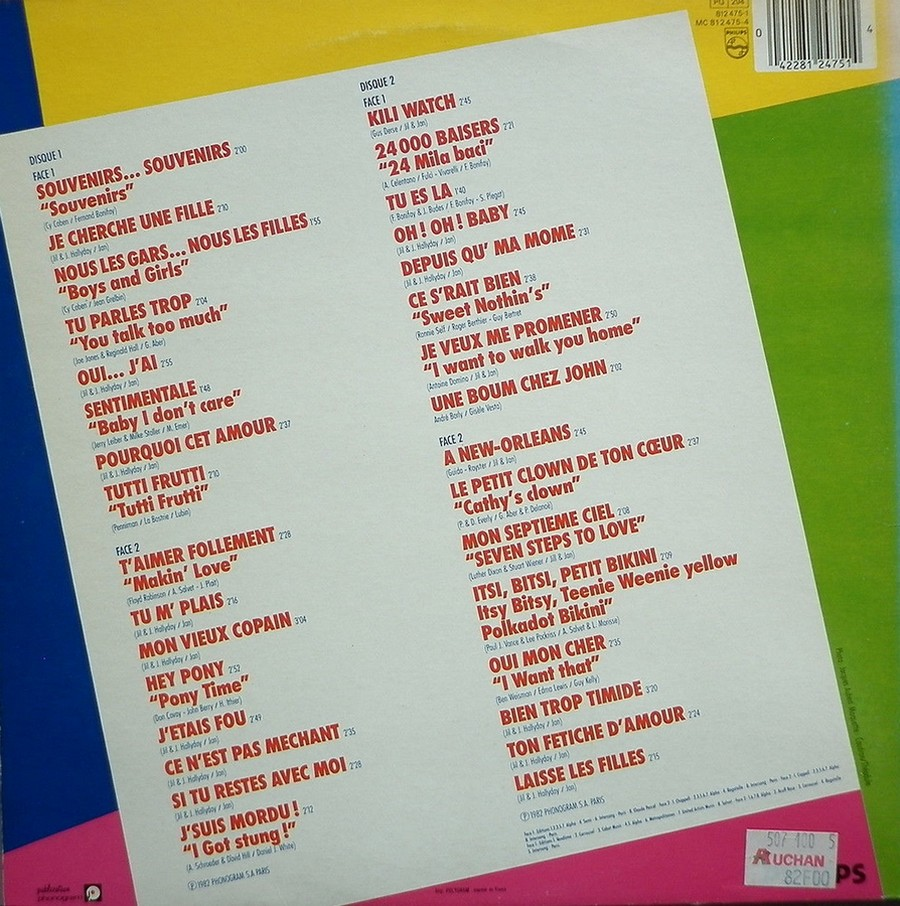 HALLYDAY STORY ( ALBUMS 2 DISQUES )( TOUTES LES EDITIONS )( 1973 - 1988 ) 1984_h35