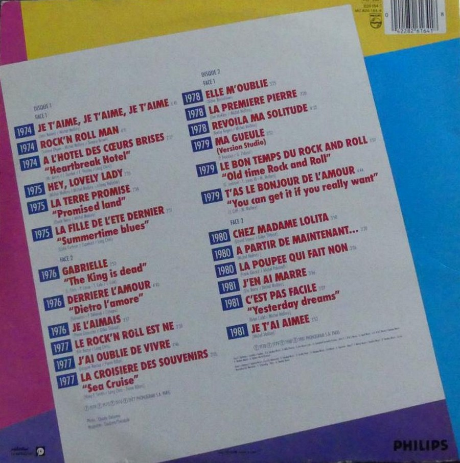 HALLYDAY STORY ( ALBUMS 2 DISQUES )( TOUTES LES EDITIONS )( 1973 - 1988 ) 1984_h61