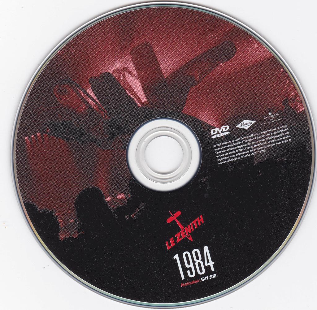 JAQUETTE DVD CONCERTS ( Jaquette + Sticker ) 1984_z10