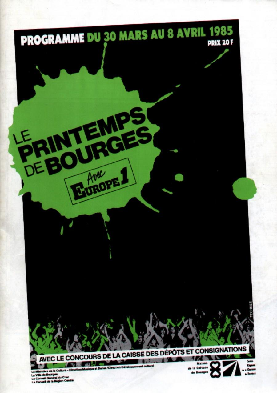 LES CONCERTS DE JOHNNY 'PRINTEMPS DE BOURGES 1985' 1985-010