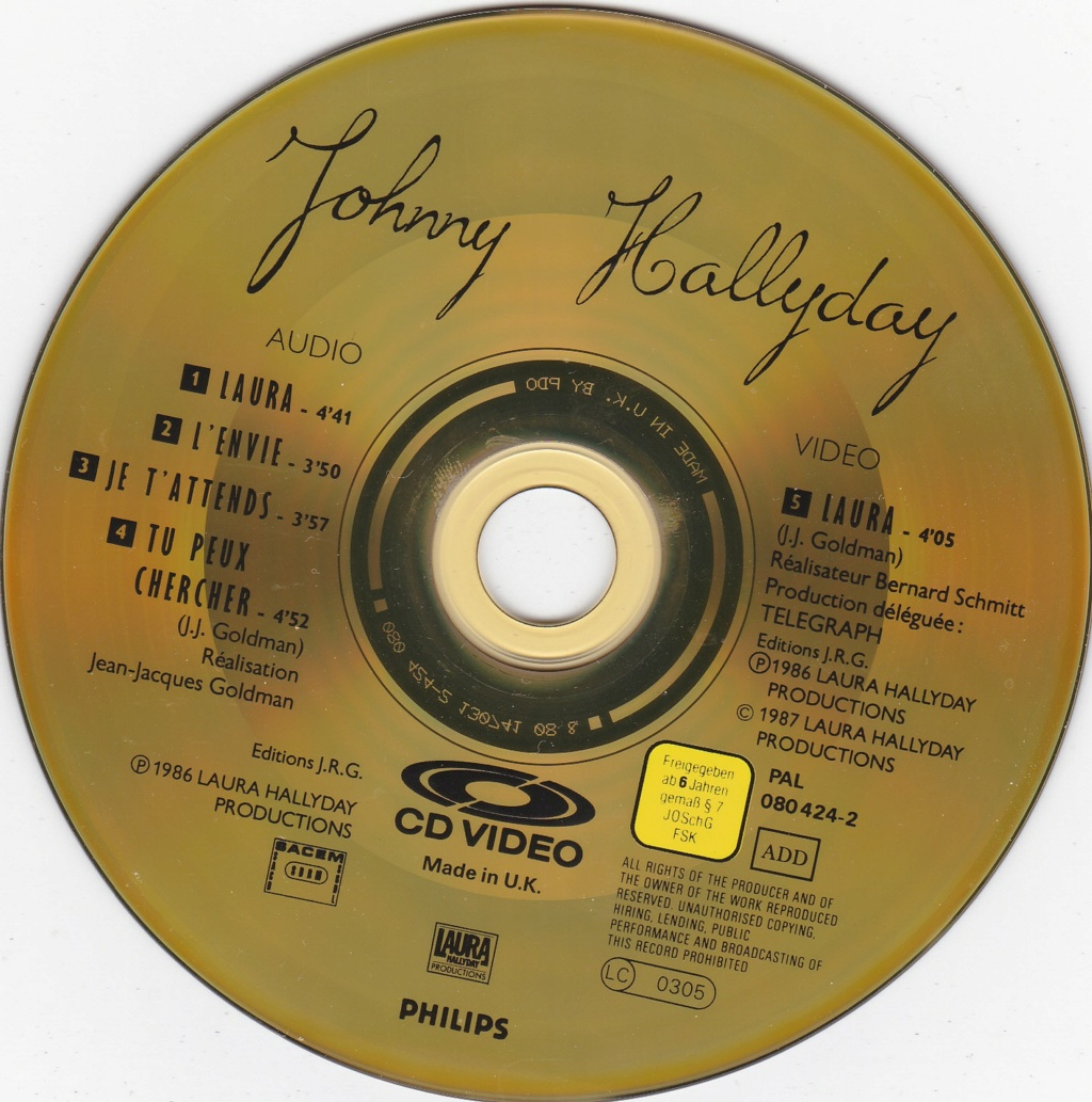 CD VIDEO JOHNNY HALLYDAY ( SERIE DE 5 )( 1985 - 1988 ) 1986_l10