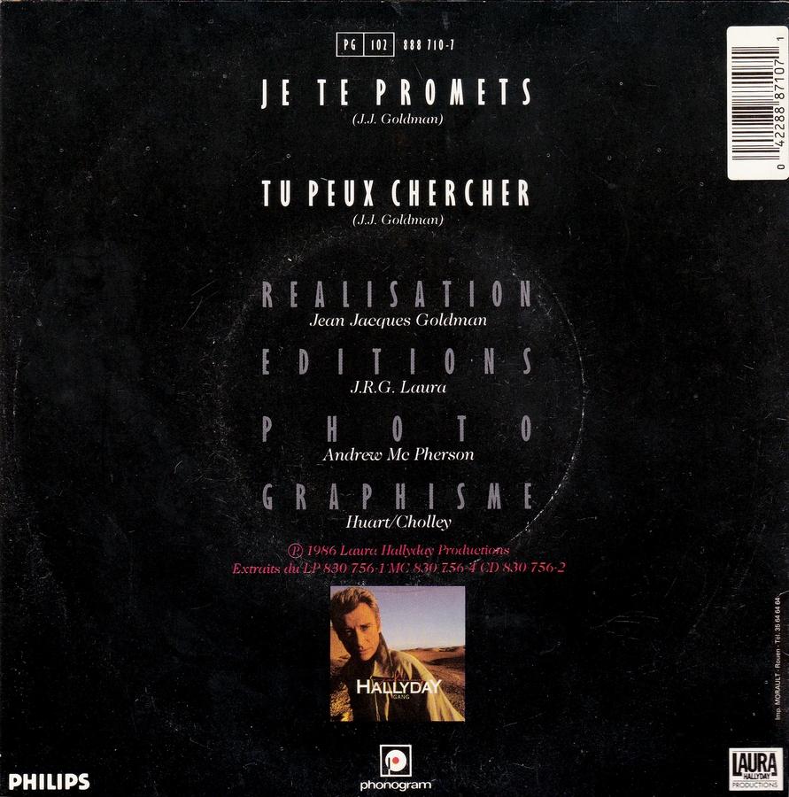 Je te promets / Tu peux chercher ( 3 Pochettes différentes )( 1987 ) 1987_718