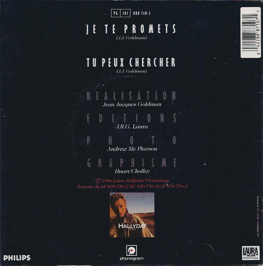 Je te promets / Tu peux chercher ( 3 Pochettes différentes )( 1987 ) 1987_720