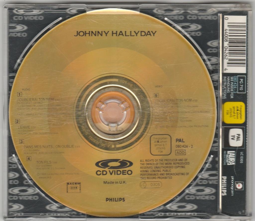 CD VIDEO JOHNNY HALLYDAY ( SERIE DE 5 )( 1985 - 1988 ) 1987_j16
