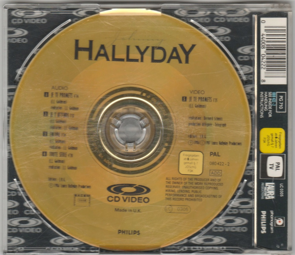CD VIDEO JOHNNY HALLYDAY ( SERIE DE 5 )( 1985 - 1988 ) 1987_j21