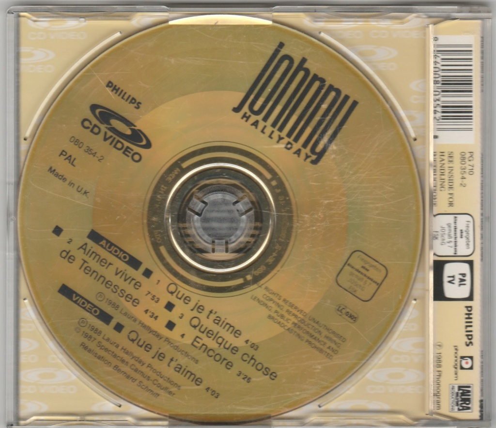 CD VIDEO JOHNNY HALLYDAY ( SERIE DE 5 )( 1985 - 1988 ) 1988_q17