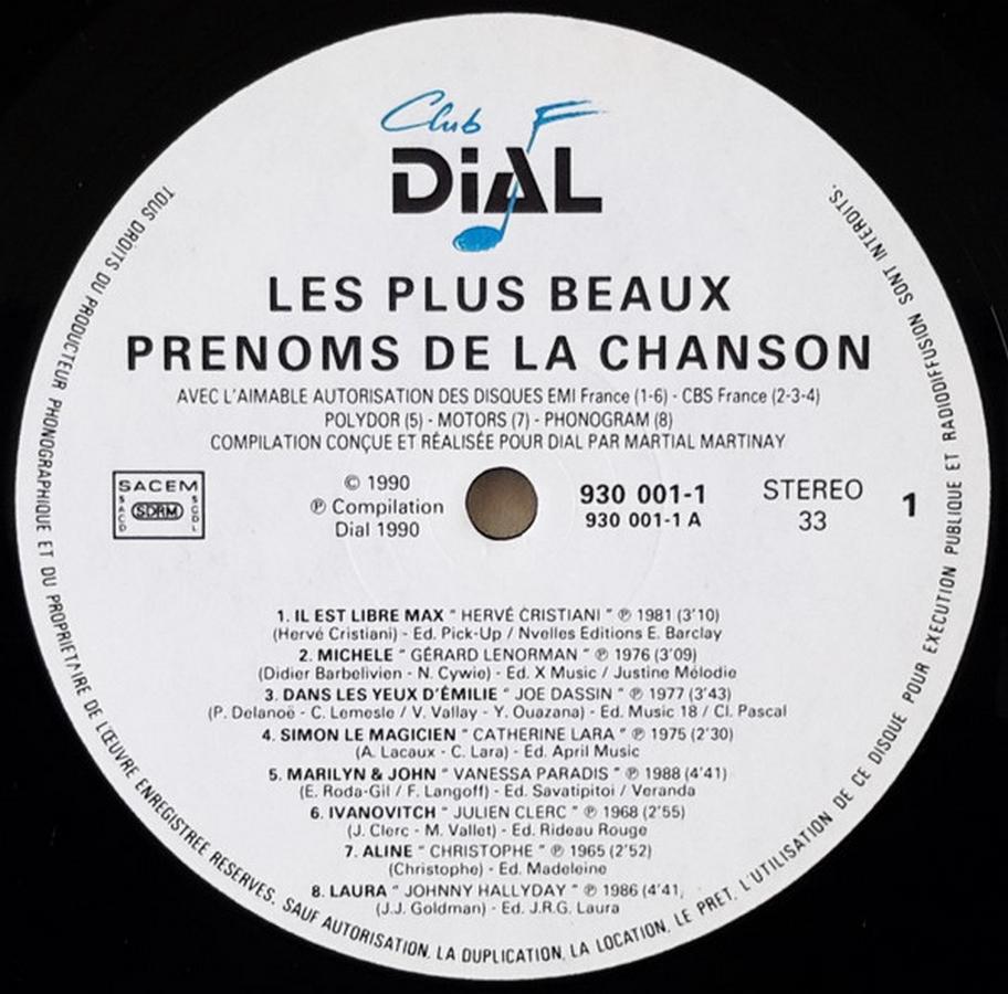 Club Dial Editions 1990_l10