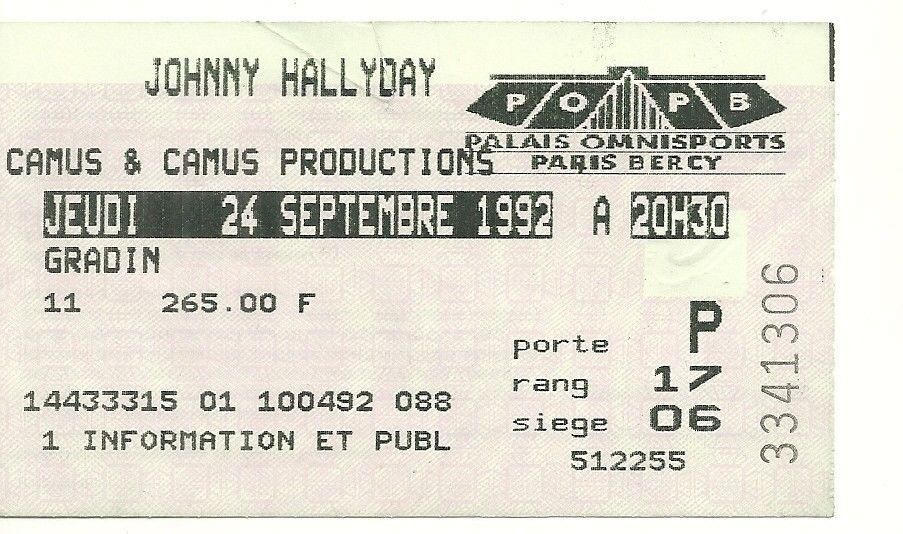 Pour Zorba (billets de concert) 199210