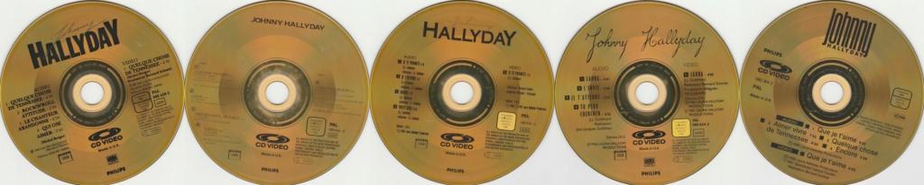 CD VIDEO JOHNNY HALLYDAY ( SERIE DE 5 )( 1985 - 1988 ) 199312