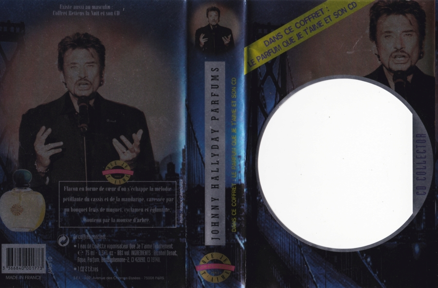 PARFUMS JOHNNY HALLYDAY ( COFFRET + CD )( 1995 - 1998 ) 1998_q11
