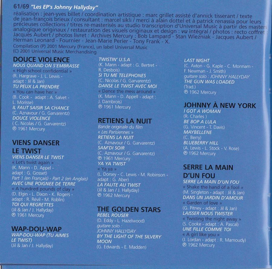 COFFRET 40 CD 1961-1969 ( REEDITION DES 40 EP )( 2001 ) 2001_l49