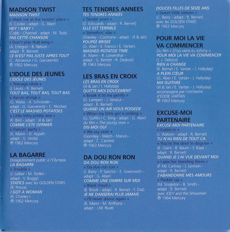 COFFRET 40 CD 1961-1969 ( REEDITION DES 40 EP )( 2001 ) 2001_l50