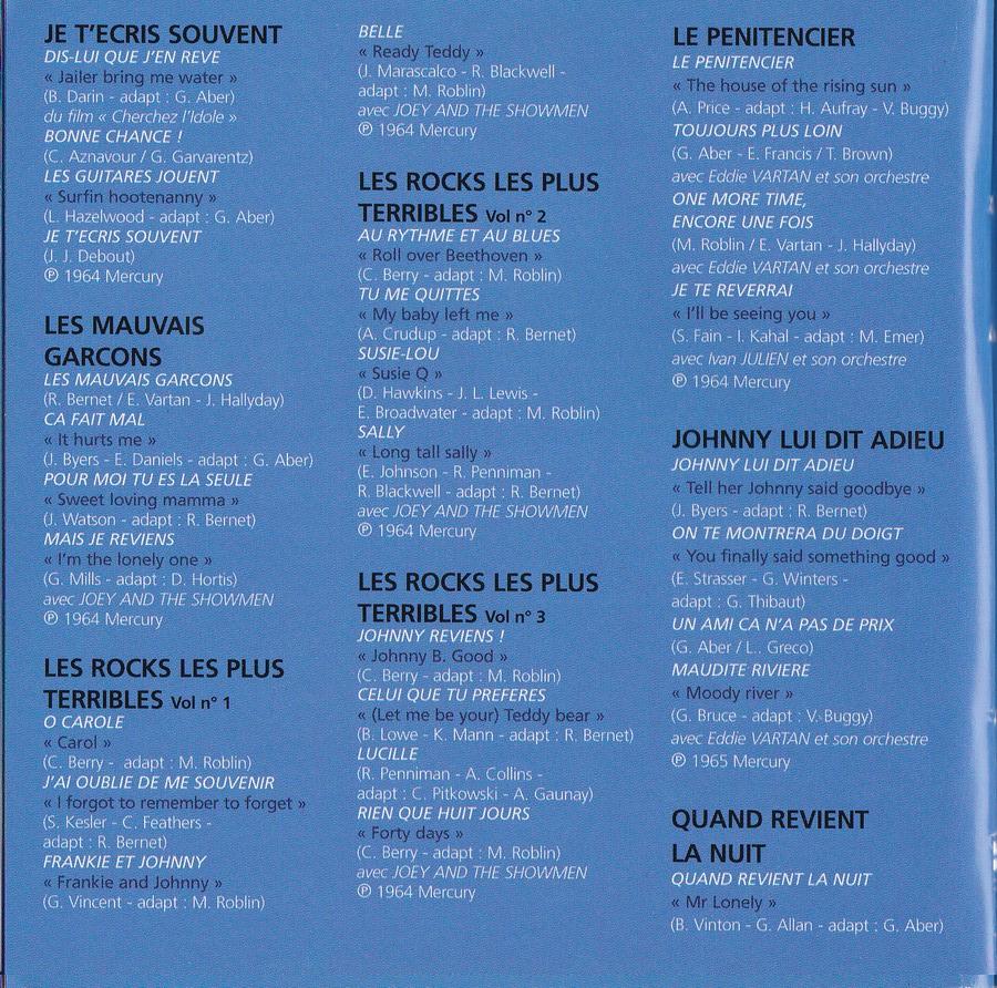 COFFRET 40 CD 1961-1969 ( REEDITION DES 40 EP )( 2001 ) 2001_l51