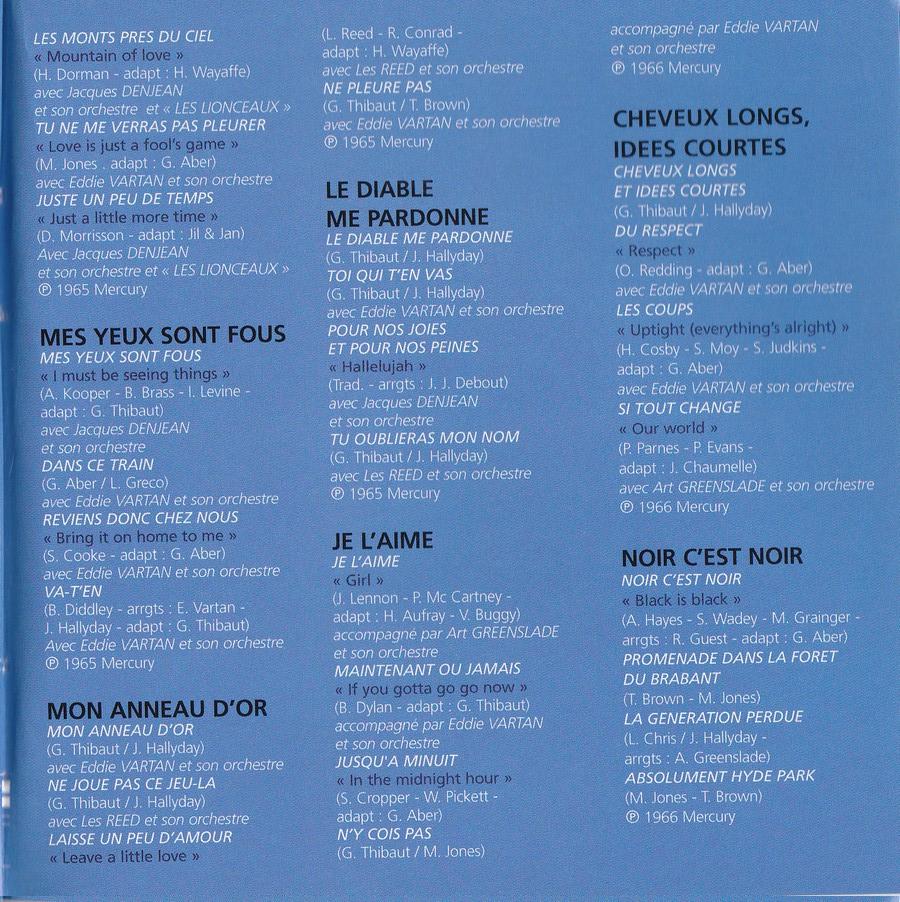 COFFRET 40 CD 1961-1969 ( REEDITION DES 40 EP )( 2001 ) 2001_l52