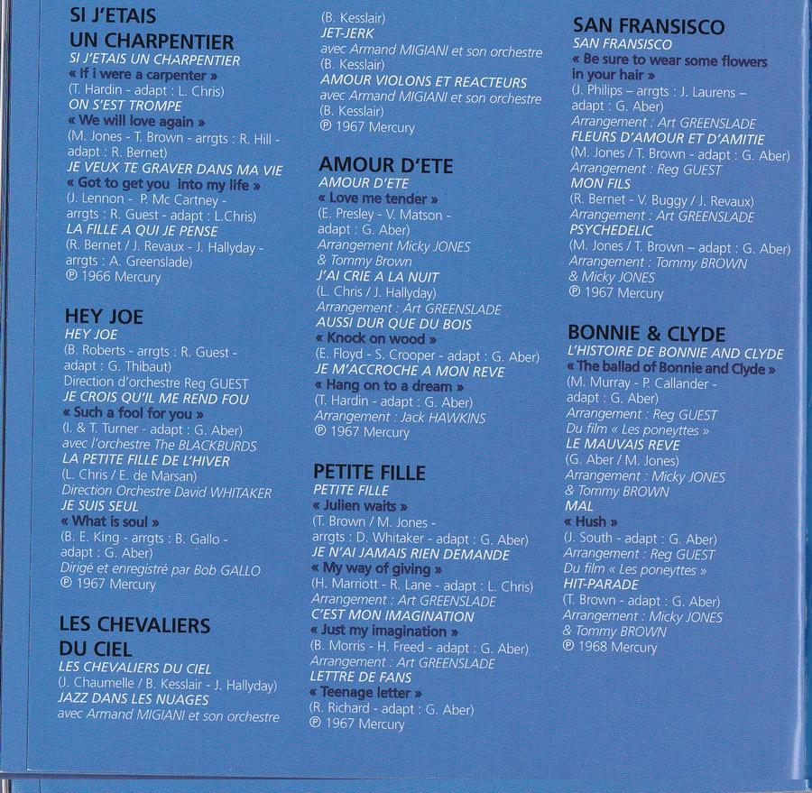 COFFRET 40 CD 1961-1969 ( REEDITION DES 40 EP )( 2001 ) 2001_l53