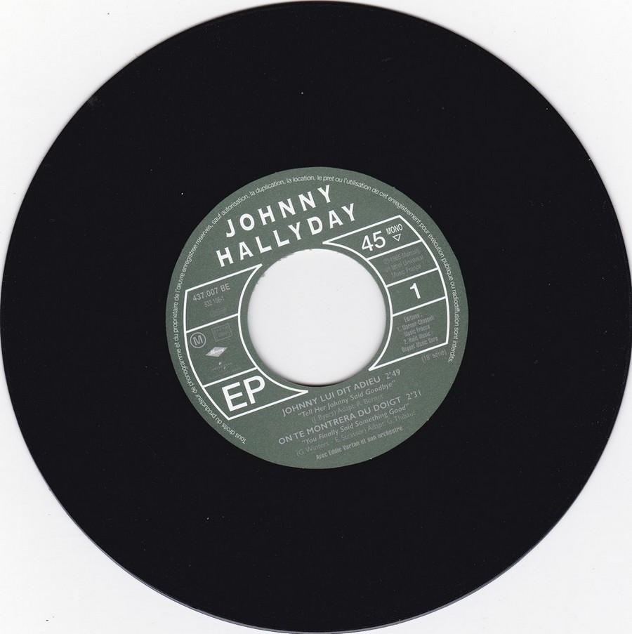 Johnny luit dit adieu ( EP 45 TOURS )( TOUTES LES EDITIONS )( 1965 - 2009 ) 2009_015