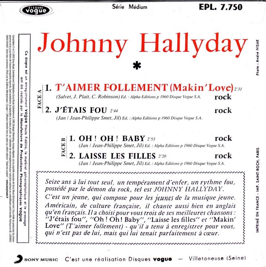 T'aimer follement ( EP 45 TOURS )( TOUTES LES EDITIONS )( 1960 - 2019 ) 2009_t17