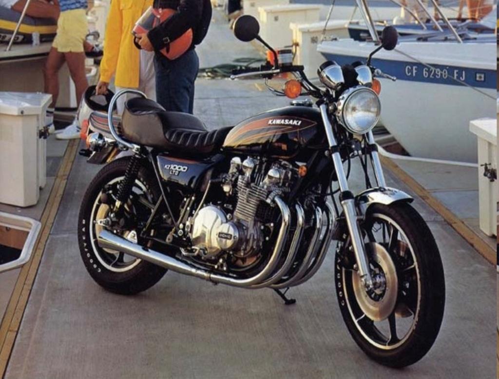 KAWASAKI KZ 1000 LTD DE JOHNNY HALLYDAY ( 1978 ) 2010