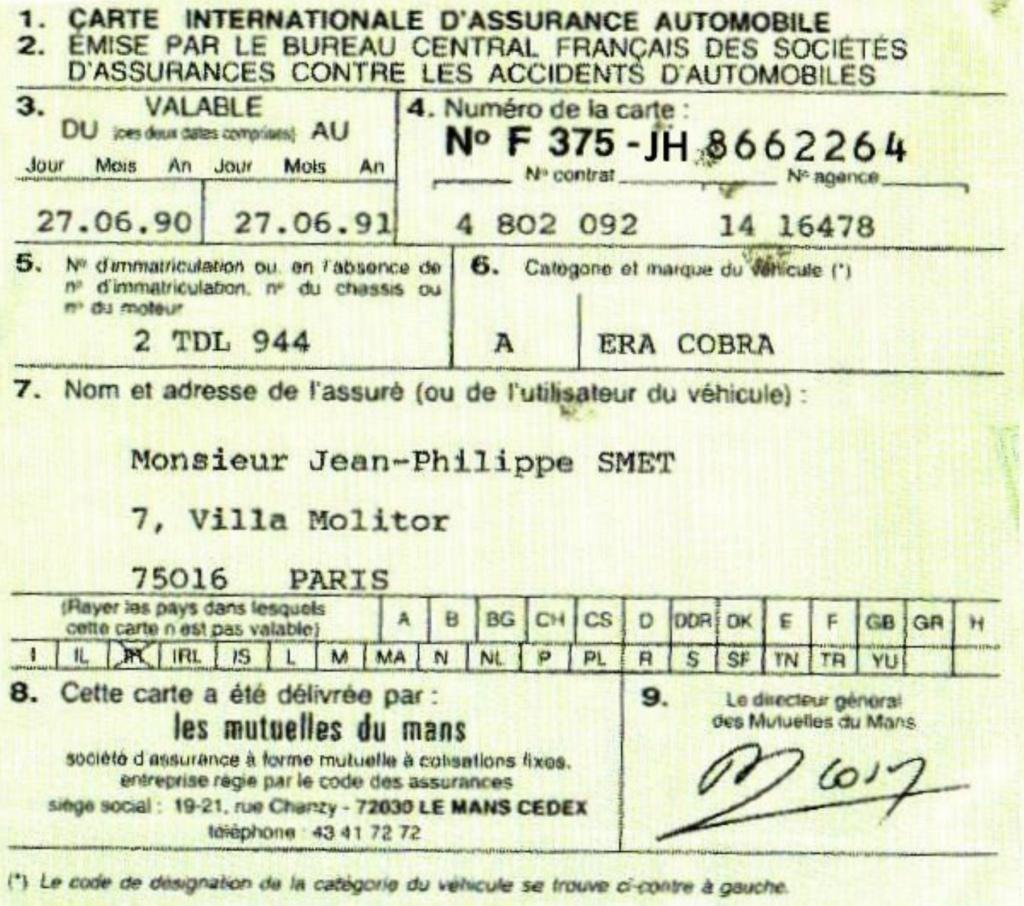 COBRA ERA DE JOHNNY HALLYDAY ( 1990 ) 20112310
