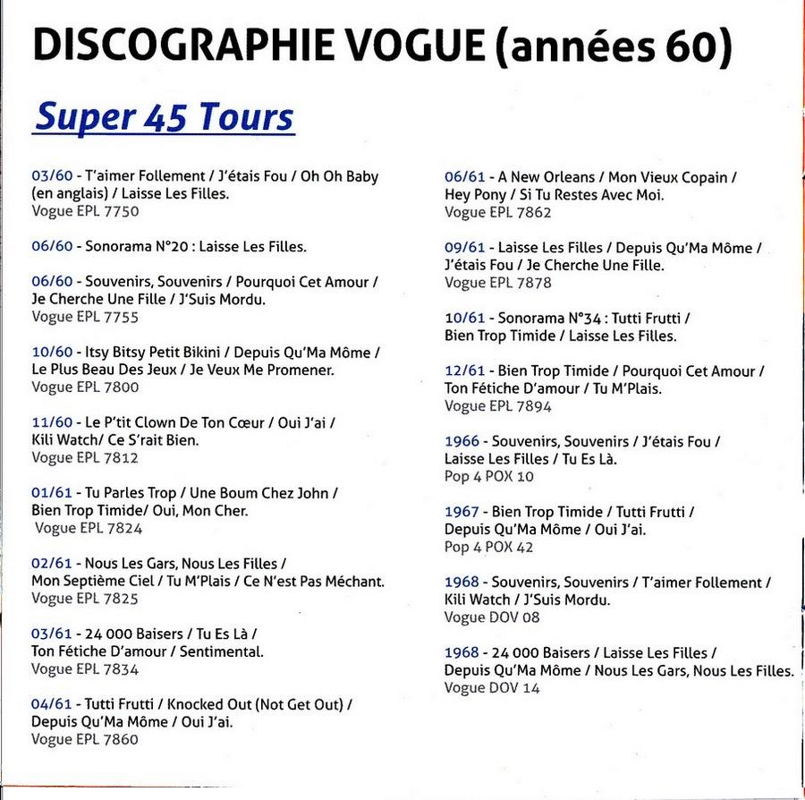 COFFRET 'LES EP VOGUE' ( COFFRET 15CD )( 2012 ) 2012_l82