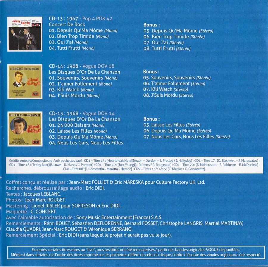 COFFRET 'LES EP VOGUE' ( COFFRET 15CD )( 2012 ) 2012_l88