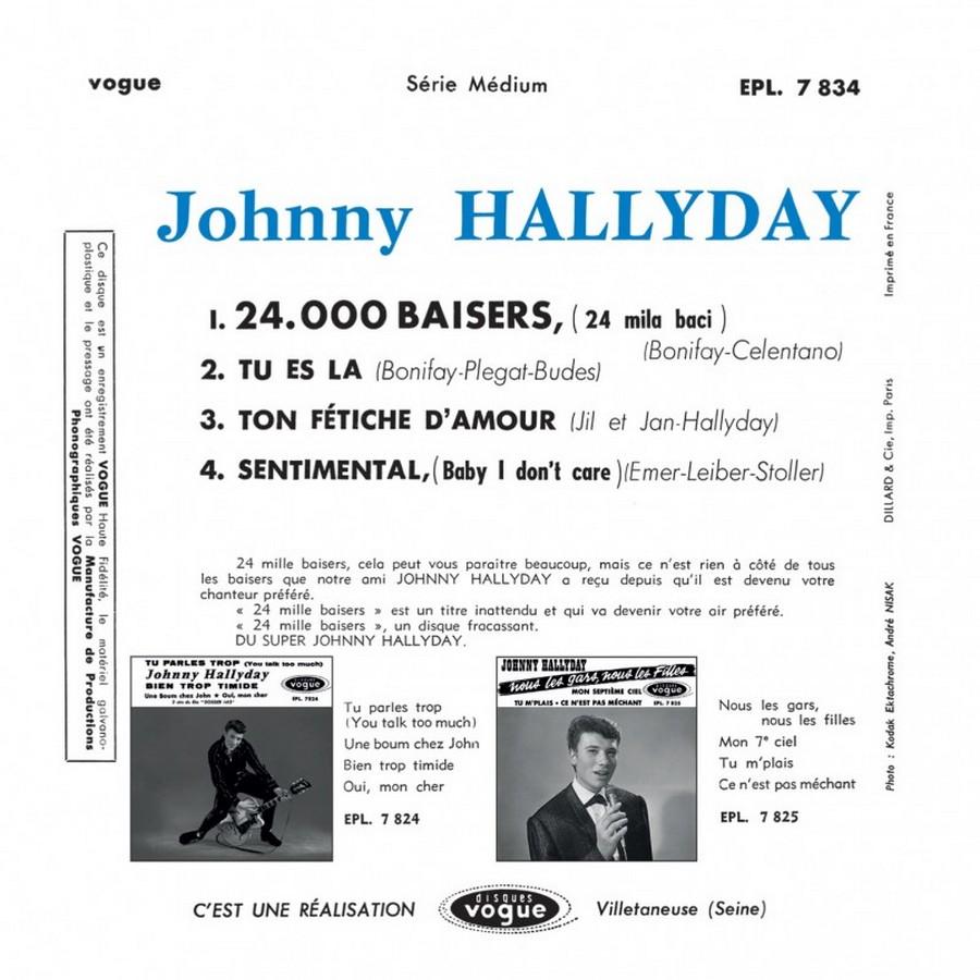 24.000 baisers ( EP 45 TOURS )( TOUTES LES EDITIONS )( 1961 - 2019 ) 2019_049