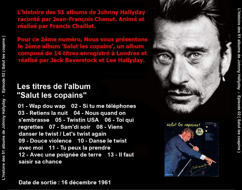 Pochettes CD Recto/Verso des 51 albums de Johnny en Podcast 2019_l25
