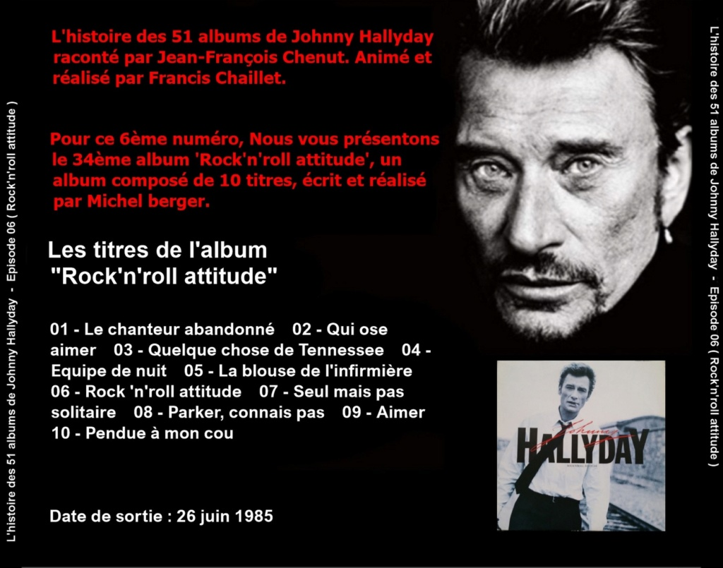 Pochettes CD Recto/Verso des 51 albums de Johnny en Podcast 2019_l33
