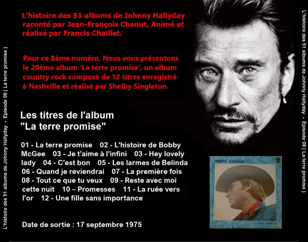 Pochettes CD Recto/Verso des 51 albums de Johnny en Podcast 2019_l37