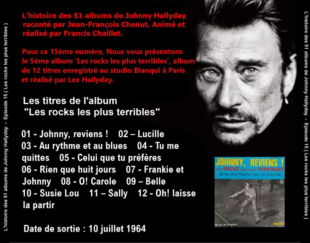 Pochettes CD Recto/Verso des 51 albums de Johnny en Podcast 2019_l51
