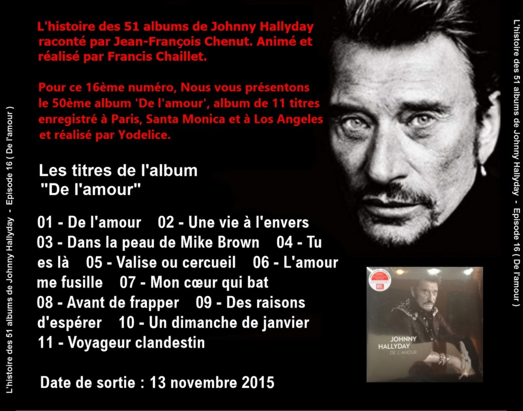 Pochettes CD Recto/Verso des 51 albums de Johnny en Podcast 2019_l53