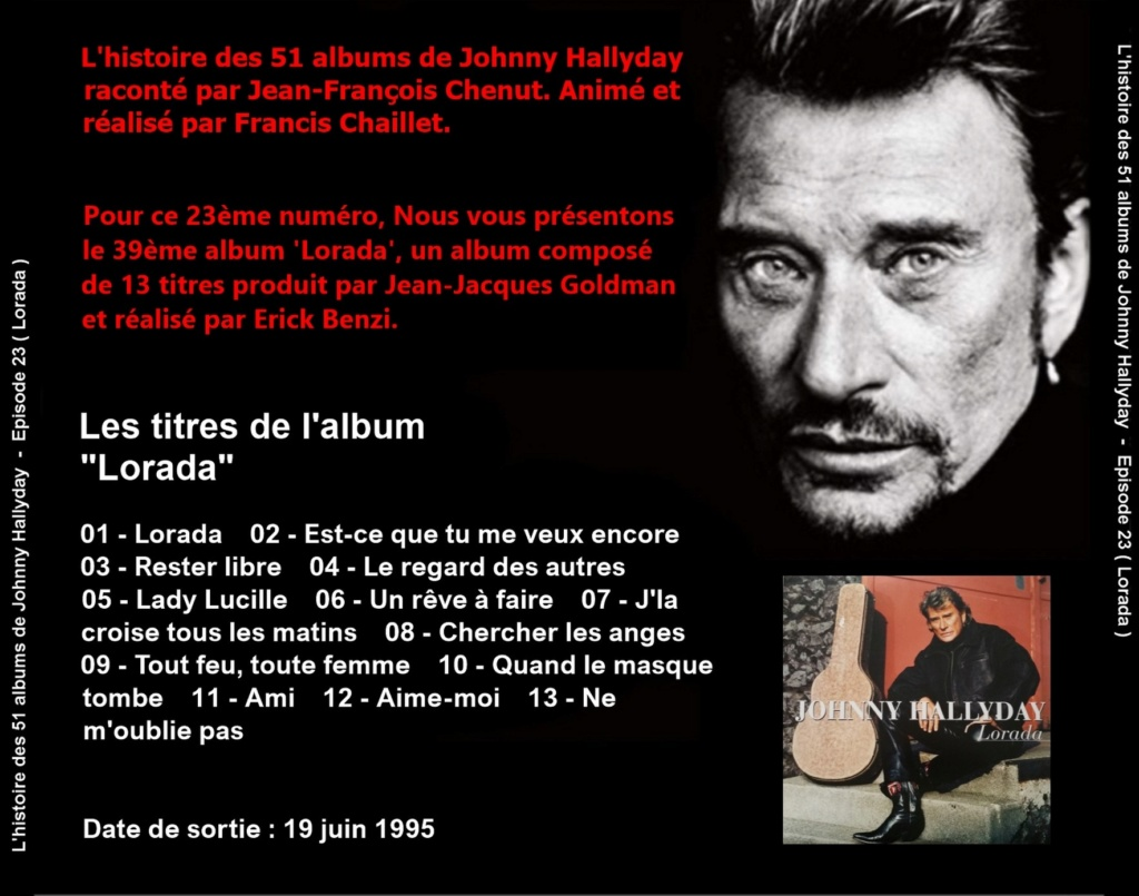 Pochettes CD Recto/Verso des 51 albums de Johnny en Podcast 2019_l68