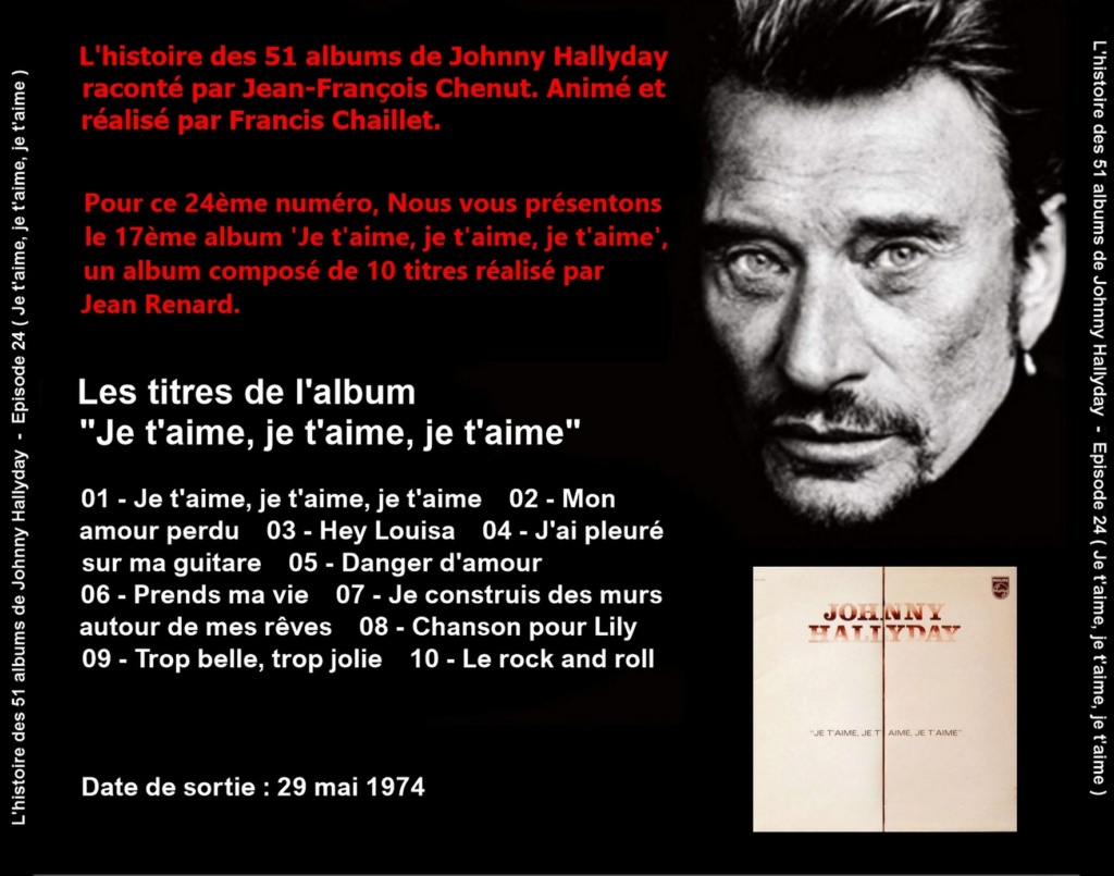 Pochettes CD Recto/Verso des 51 albums de Johnny en Podcast 2019_l70