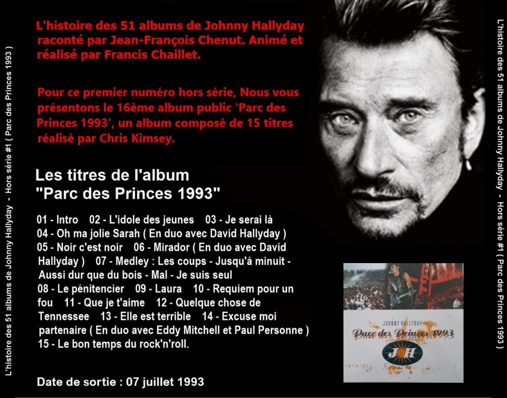 Pochettes CD Recto/Verso des 51 albums de Johnny en Podcast 2019_l72