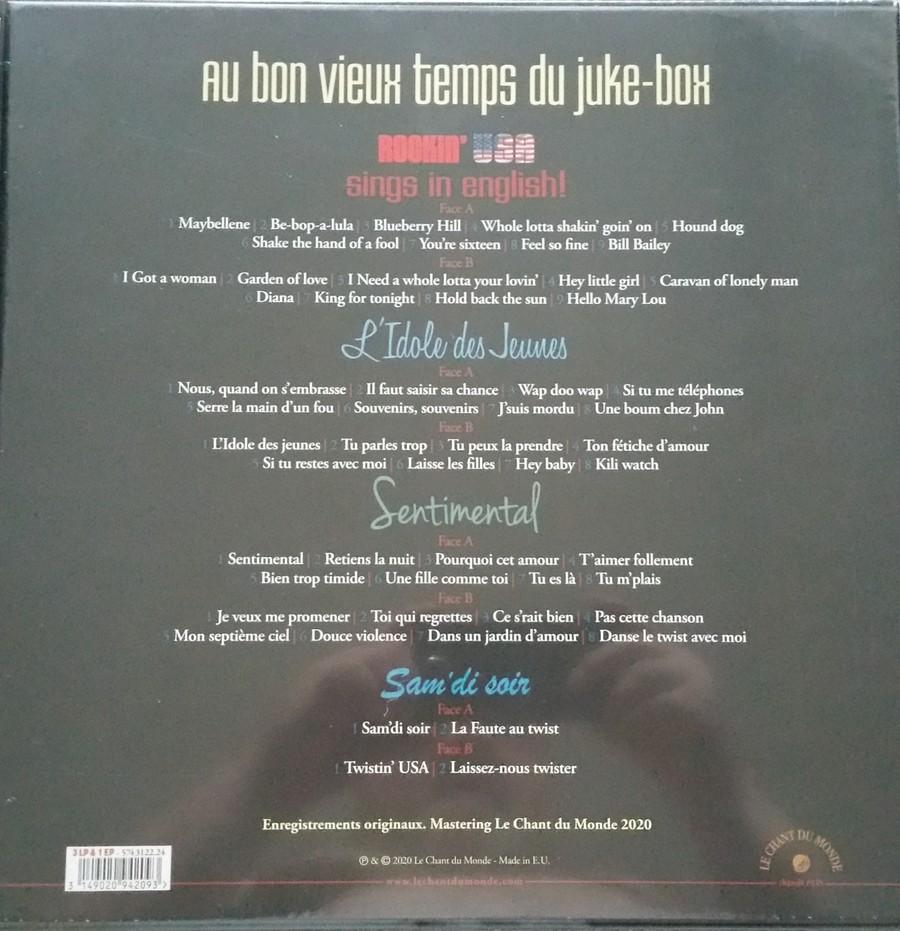 AU BON VIEUX TEMPS DU JUKE-BOX ( COFFRET 3LP + 1 EP )( NOUVEAUTE ) 20200911