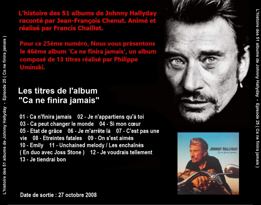Pochettes CD Recto/Verso des 51 albums de Johnny en Podcast 2020_l11