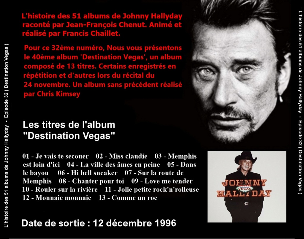 Pochettes CD Recto/Verso des 51 albums de Johnny en Podcast 2020_l28