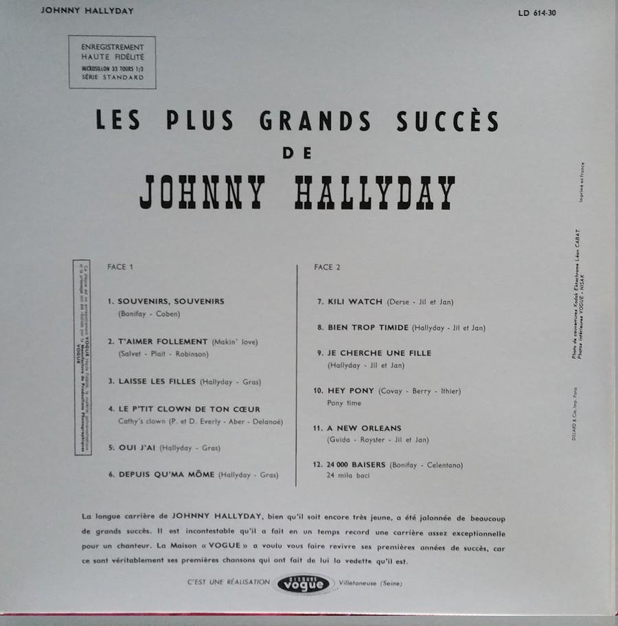 LES PLUS GRANDS SUCCES DE JOHNNY HALLYDAY ( 2 EDITIONS )( 1962-2020 ) 2020_l31