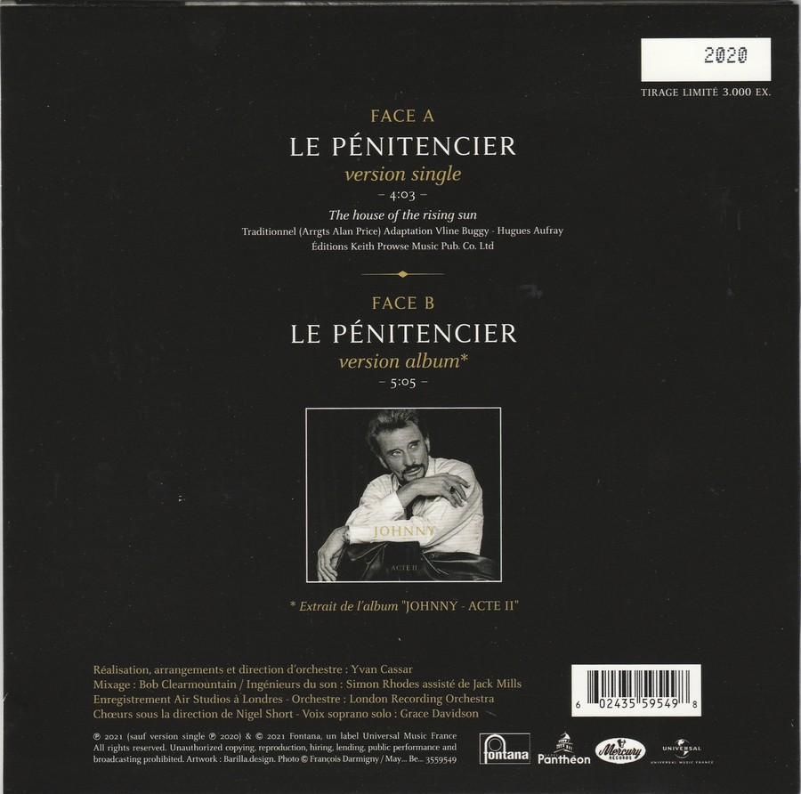 LE PENITENCIER ( ACTE II )( 45 TOURS '17CM' )( 2020 ) 2021_l42
