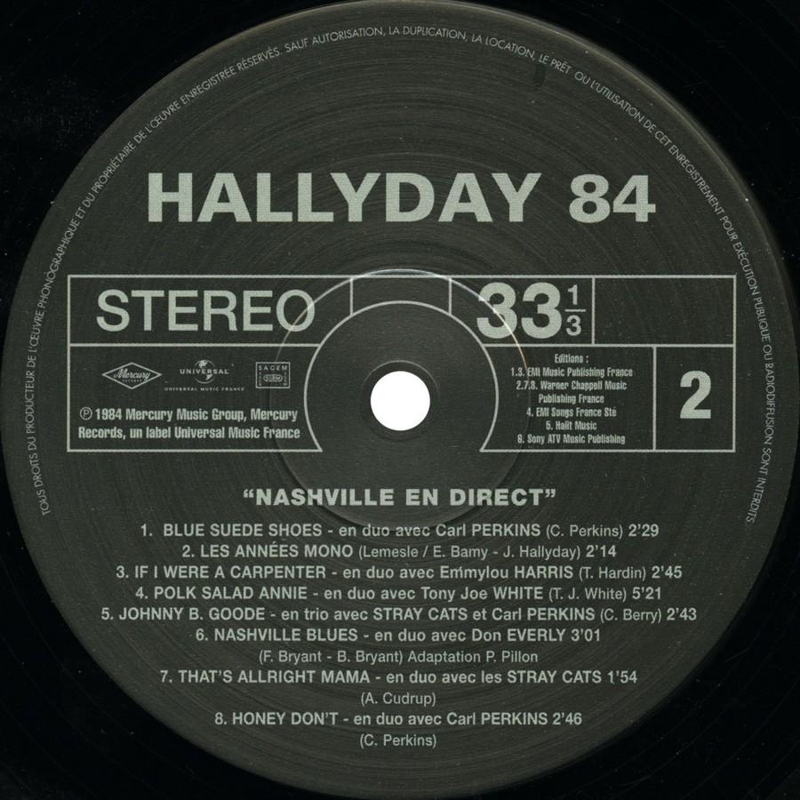 HALLYDAY 84 'NAHSVILLE'  ( 33 TOURS 30CM )( TOUTES LES EDITIONS )( 1984 - 2021 ) 2021_n19