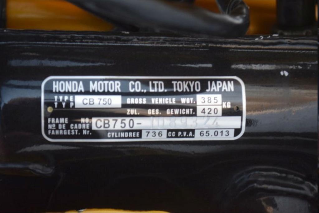HONDA CB 750 K1 DE JOHNNY HALLYDAY ( 1970 ) 20b34210