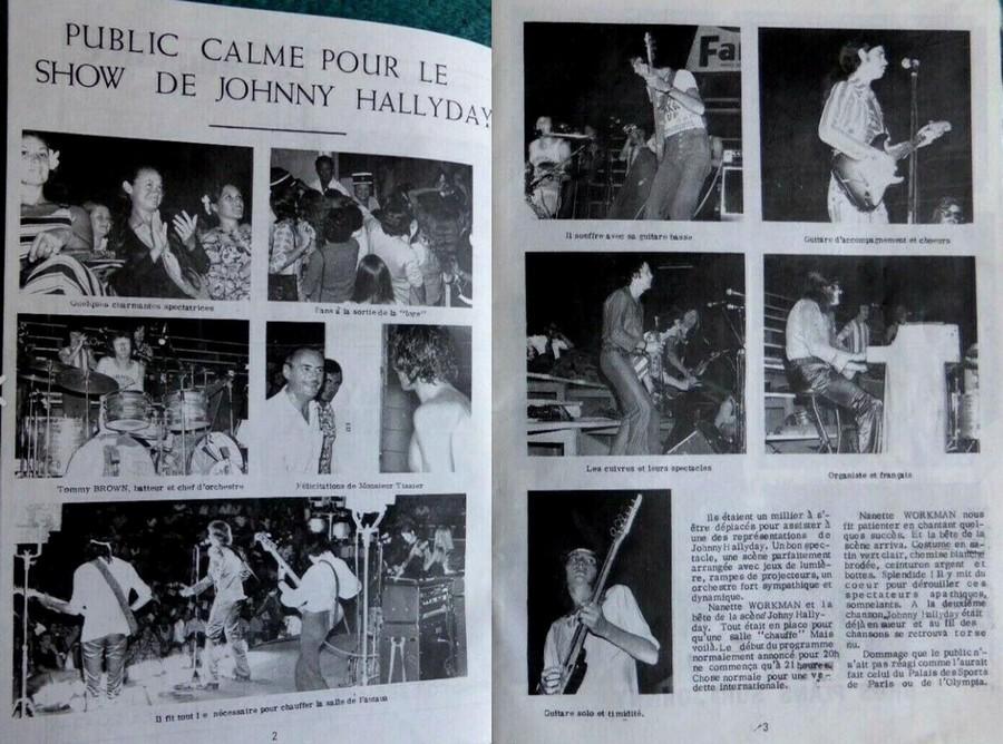 LES CONCERTS DE JOHNNY 'TOURNEE JOHNNY CIRCUS 1972' 33230711