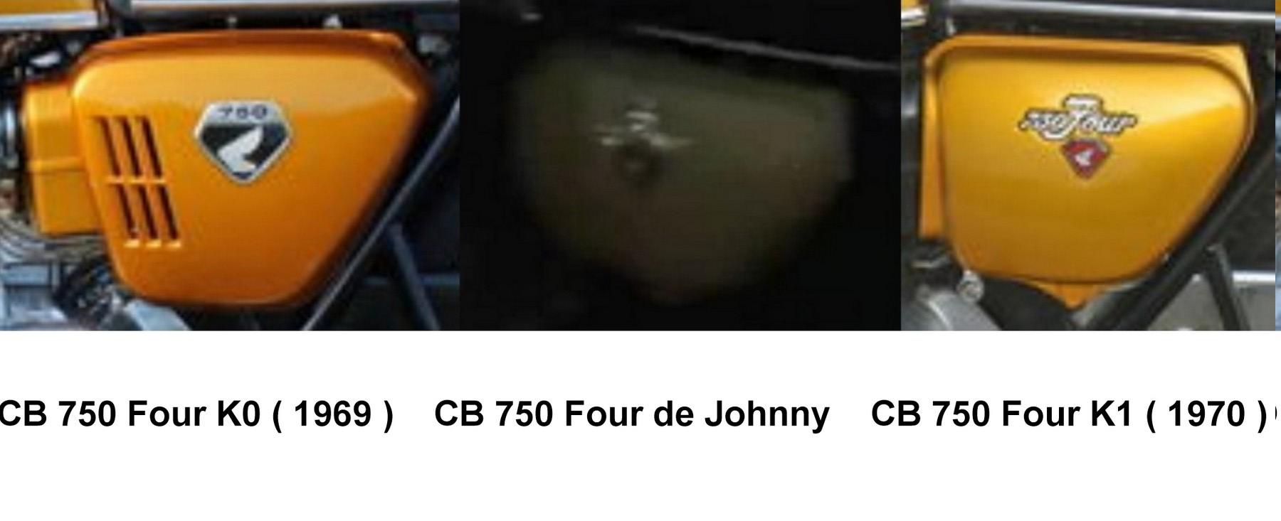 HONDA CB 750 K1 DE JOHNNY HALLYDAY ( 1970 ) 85c65111