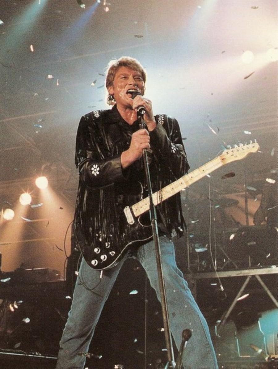 LES CONCERTS DE JOHNNY 'GENERATION ROCK N ROLL, PALAIS DES SPORTS 1989' 89-g0114