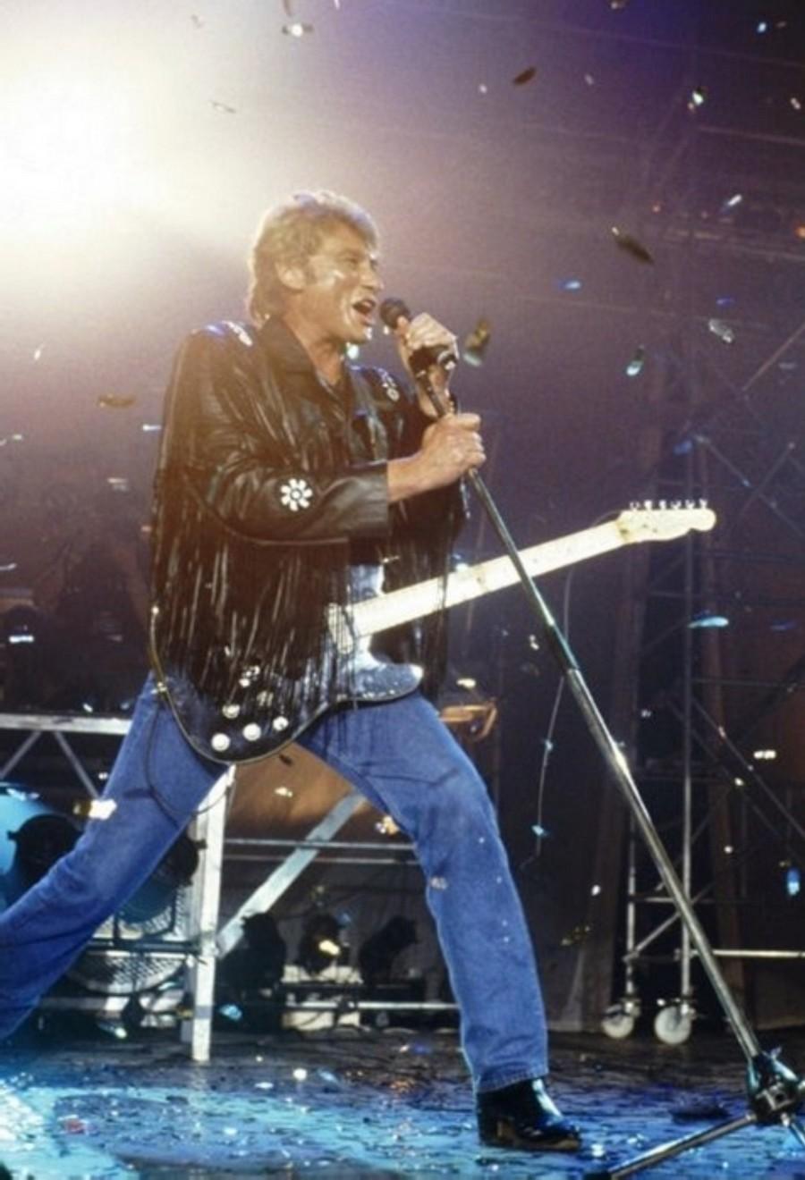 LES CONCERTS DE JOHNNY 'GENERATION ROCK N ROLL, PALAIS DES SPORTS 1989' 89-g0116