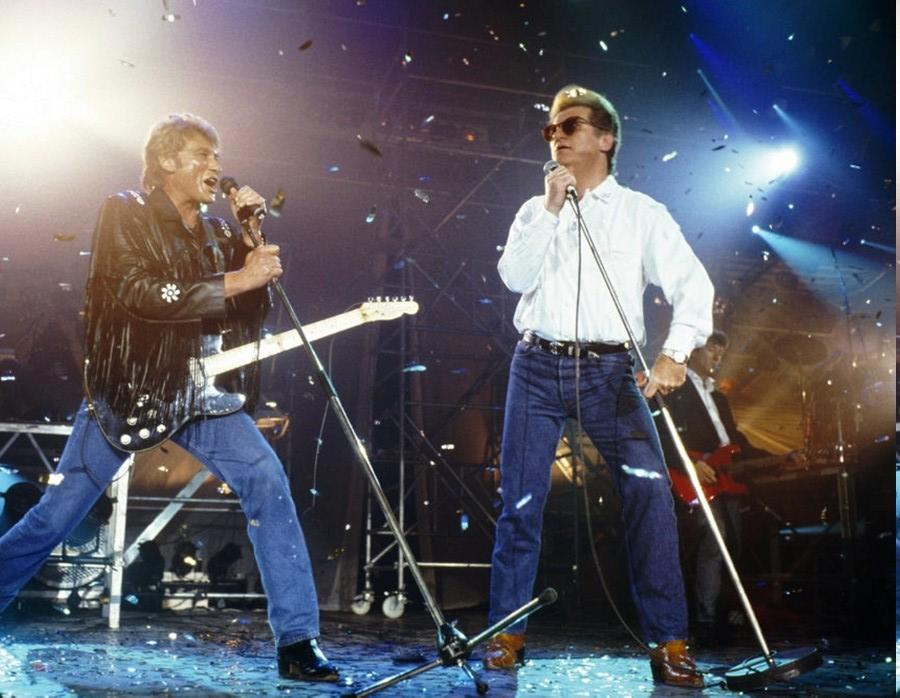 LES CONCERTS DE JOHNNY 'GENERATION ROCK N ROLL, PALAIS DES SPORTS 1989' 89-g0118