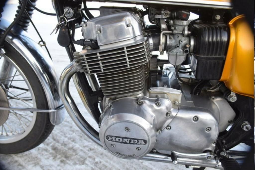 HONDA CB 750 K1 DE JOHNNY HALLYDAY ( 1970 ) B21f0010